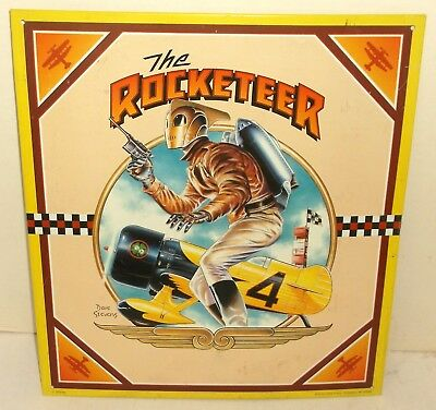 Disney THE ROCKETEER Dave Stevens TIN SIGN metal 12x13 steampunk COMIC BOOK HERO