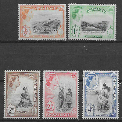 Swaziland , South Africa , 1961 , Set Of 5 New Value  , Perf , Vlh
