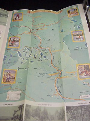 Vintage Sierra County California Brochure with Illustrated Newberg Map c 1940's