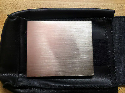 "200 g grams - STAINLESS STEEL 3"" x 2 1/2"" x 3/16"" WEIGHT CALIBRATION STANDARD"