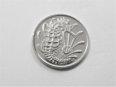 10 Cents Singapore 1969 - Seahorse - *polished* gift/ collect #6978