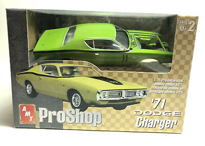 AMT Pro Shop 1971 Dodge Charger Green Plastic Model Kit #31522 1:25 Scale