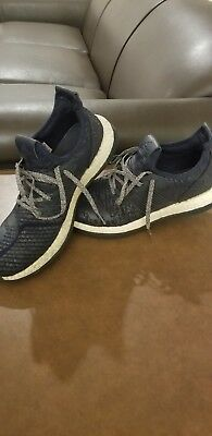 f03dd0d1f7918 Adidas Pure Boost ZG M - Collegiate Navy White RunningShoes Mens US Size 11