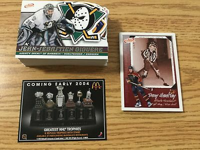 2003-04 McDonald's Hockey Cards Pacific Atomic Complete Set 1-55 + 10 Checklists