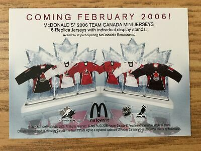 2005-06 McDonald's Hockey Cards Upper Deck Lot of 5 Promo Cards for 2006 Team Ca