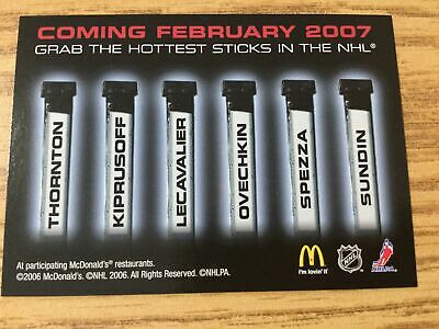 2006-07 McDonald's Hockey Cards Upper Deck Lot of 5 Promo Cards Coming February