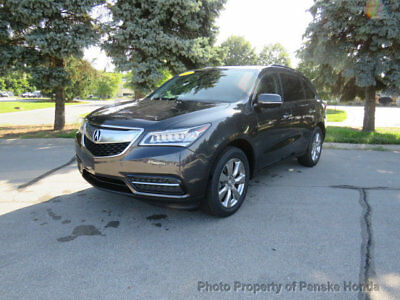 Acura MDX AWD 4dr Advance/Entertainment Pkg AWD 4dr Advance/Entertainment Pkg SUV Automatic Gasoline 3.5L V6 Cyl GRAY