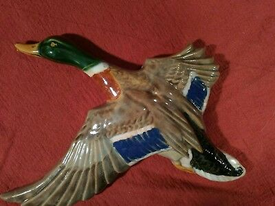 Rosemeade Pottery Mallard Duck Wall Plaque