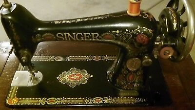 Vintage 1924 Singer Sewing Machine In The Most Deluxe Cabinet On E-Bay