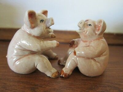 Klima porcelain Plotting Pigs salt and pepper set, new, free Aus post