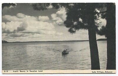 Lake Village, Arkansas -Scenic Beauty in Vacation Land- Unposted Vtg Postcard