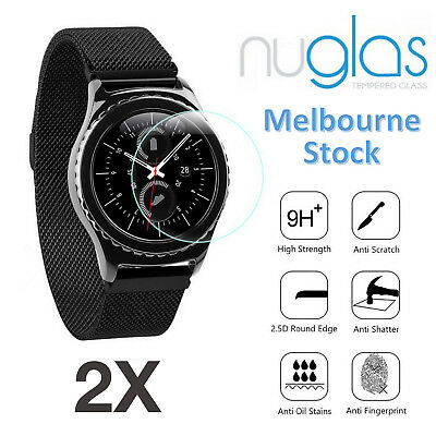 2x Nuglas Tempered Glass Screen Protector For Samsung Gear S3 Classic Frontier