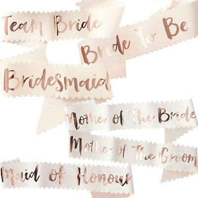 Hen Party Sashes Rose Gold Bride To Be Bridesmaid Sash Hen Do Girls Night Out