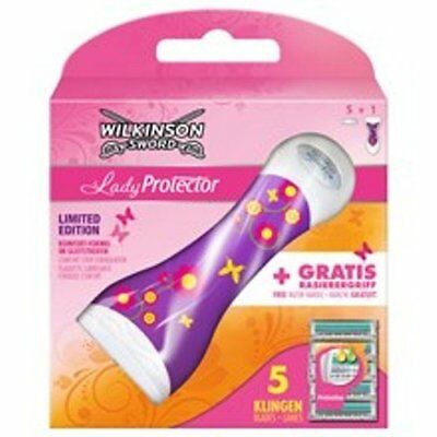 LIMITED EDITION Wilkinson Sword Rasierer Lady Protector blumendesign mit 5 Kl...