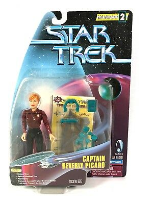 Captain Beverly Picard Star Trek The Next Generation 1997 Figure +Free Shipping