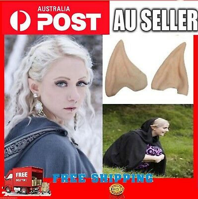 1 Pair Halloween Pointed Fairy Elf Hobbit Vulcan Spock Alien Cosplay Costume Ear