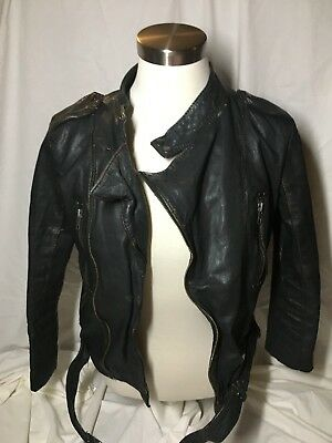 Asos Black Real Leather Motorcycle Jacket Womens
