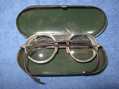 Vintage Bausch & Lomb Safety Glasses w/ Original Case, Motorcycle Glasses