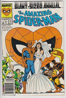 Amazing Spider-Man Annual #21 (1987, Marvel) F Newsstand Variant Cover  F
