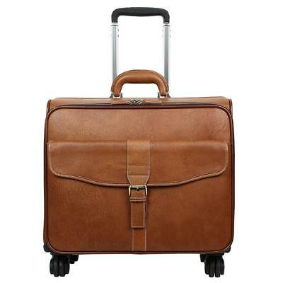 Leathario Leather Luggage travel duffle bag weekend overnight rolling suitcase