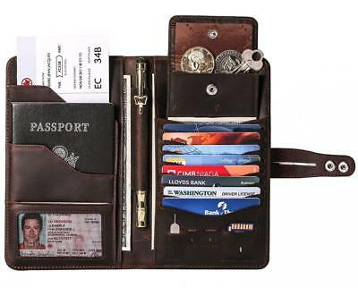 Travel Wallet with RFID Blocking Awesome Passport Credit Cards Holder...