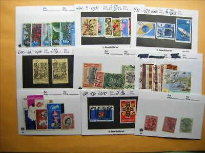 3513 Br. Commonwealth Lot of 9 Used Stamp Packs