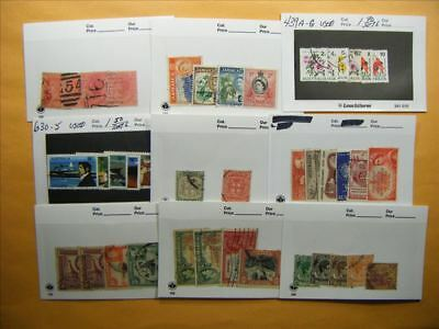 3515 Br. Commonwealth Lot of 9 Used Stamp Packs