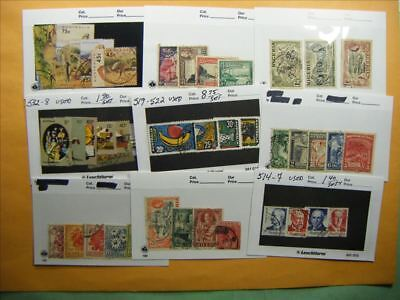 3518 Br. Commonwealth Lot of 9 Used Stamp Packs