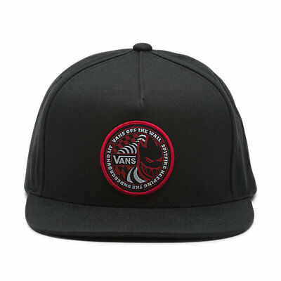 Vans x SPITFIRE Mens Hat (NEW) Black SNAPBACK CAP Spit Fire Wheels FREE SHIPPING
