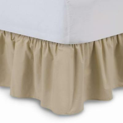 Shop Bedding Ruffled Bed Skirt (Queen, Stone) 14 Inch Drop Dust Ruffle with...