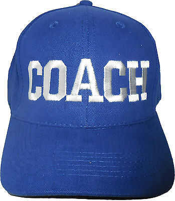 All Capital COACH Baseball Cap Embroidered Quality Hat -  Royal Blue