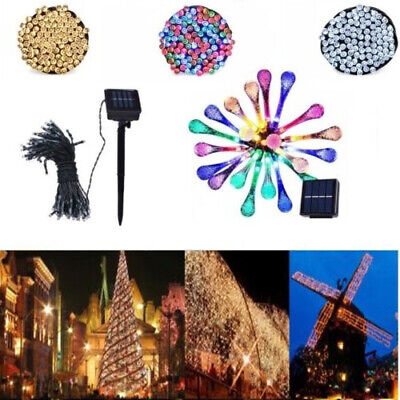 50 100 200 LED Solar Power Fairy Lights String Garden Outdoor Party Xmas RLTS
