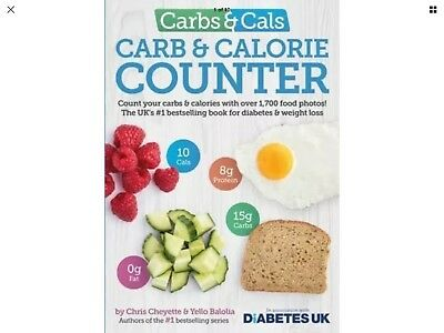 Carbs and Cals Carb Calorie Counter Chris Cheyette Yello Balolia Paperback Book