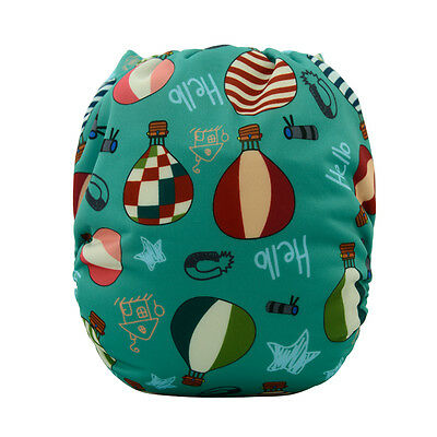 Alvababy Baby Cloth Diapers Reusable Pocket Washable Nappies +1 Insert For Boys