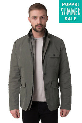 New Mens 3in1 Jacket MARCIANO GUESS Double Back Vent Popper Front Size L