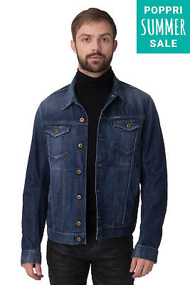 DIESEL Denim Jacket Size S Faded Button Front Collared Neck ELSHAR-E