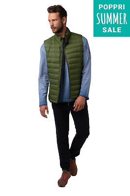 TOM TAILOR Gilet Size XL Duck Down Full Zip Funnel Neck Quilted 3522264