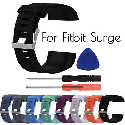 Replacement Wristband Band Strap Large For Fitbit Surge Clasp Buckle Tool Kit  K