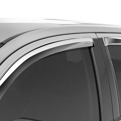 Stampede 6142-8 Set of 4 Chrome Tape-Onz Sidewind Deflectors for Ford F150