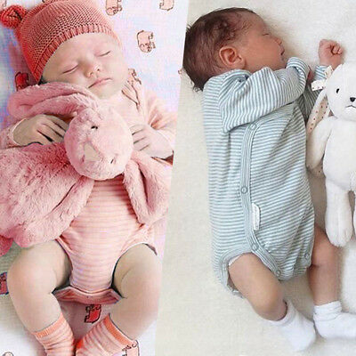 Canis Newborn Baby Boys Girls Striped Romper Bodysuit Jumpsuit Outfits Playsuit