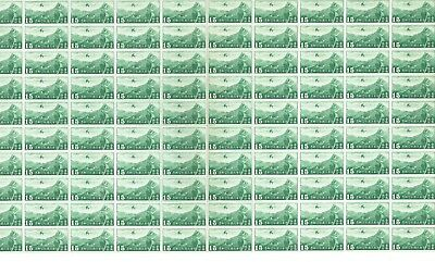 China 1940 15c green Air stamp with watermark full sheet of 100 - no selvedge