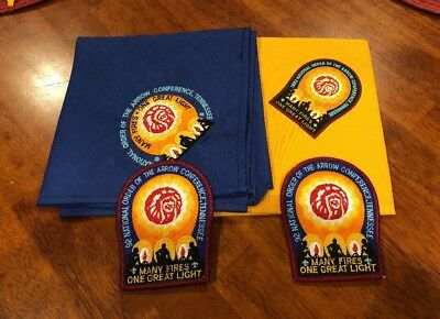Boy Scout OA 1992 NOAC Neckerchief 2 Different And 2 Patches