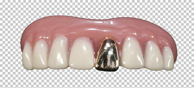 Teeth Billy Bob Bling Gold Tooth With Fixative Fancy Dress Adult