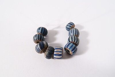 9 alte kleine Chevron beads  A Speo D1 African Trade beads perles Afrozip