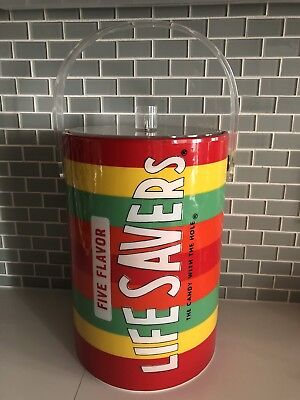 Vintage LIFESAVERS Colorful Ice Bucket with original acrylic lid