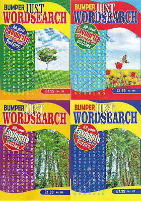 Wordsearch Book - Large Print -  4 Book Set - 416 Puzzles - New - Set 219