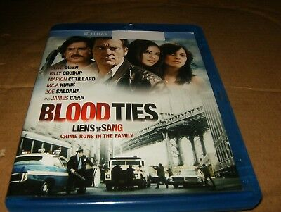 Blood Ties (Blu-ray/DVD, 2014, 2-Disc Set, Canadian) Blu-ray Only,Used.