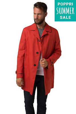 New Mens Trench Coat SCOTCH & SODA Single Breasted Size 52 / L 11251