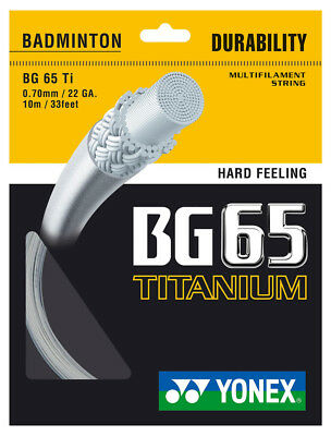 Yonex BG65Ti 0.70mm Badminton Strings Set