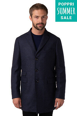 Domenico Tagliente Coat Size 52 / L Wool Blend Single Breasted Made in Italy